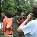 Réunion sur le terrain des gestionnaires du Thouet et des partenaires scientifiques (AgroCampus, Irstea)